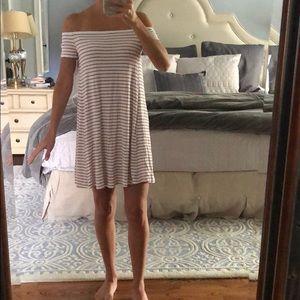 White Off Shoulder Swing dress